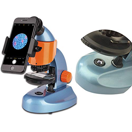 Landove 40X-200X Zoom Compound&Stereo Monocular Microscope for Student and Kids Education, with LED Light and Smartphone Holder by Landove (Image #2)