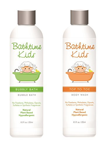 Bathtime Kids Natural Body Wash & Bubble Bath Set -Toxin Free, Sulfate Free, Paraben Free, No Artificial Fragrances, Hypoallergenic – 8.5 oz