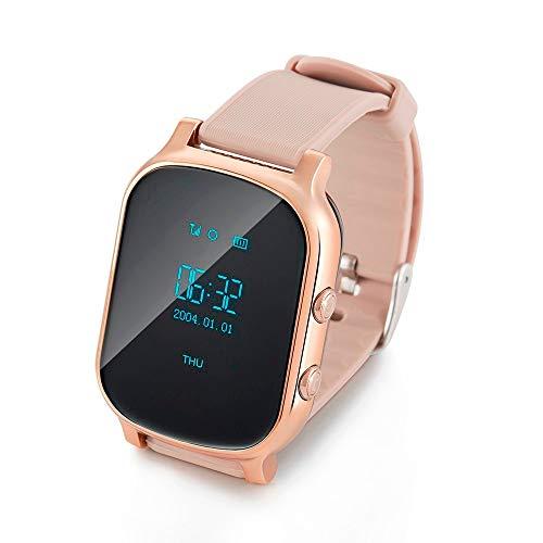 GPS Tracker SIM for Children Kid Smart Watch Phone Smart Bracelet Children Watchs for iOS Android,Gold ()