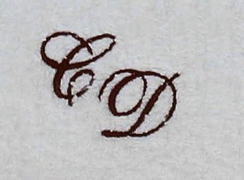 Toalla de mano 50 x 100 cm de Nueva York blanco con iniciales, bordado/bordado con sus iniciales, bordado marrón 1355: Amazon.es: Deportes y aire libre