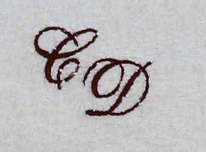 Toalla de mano 50 x 100 cm de Nueva York blanco con iniciales, bordado/