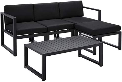 Christopher Knight Home Navan Outdoor Aluminum Sofa Set