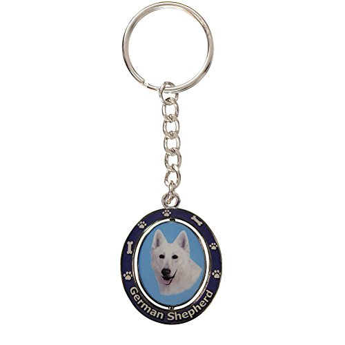 Image of German Shepherd, White Key Chain
