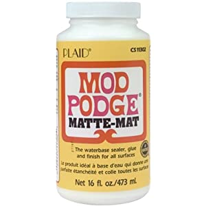 Mod Podge Waterbase Sealer, Glue and Finish (16-Ounce), CS11302 Matte Finish (Single pack)