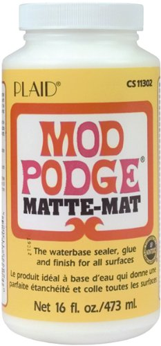 Frisco Spray (Mod Podge Waterbase Sealer, Glue and Finish (16-Ounce), CS11302 Matte Finish)
