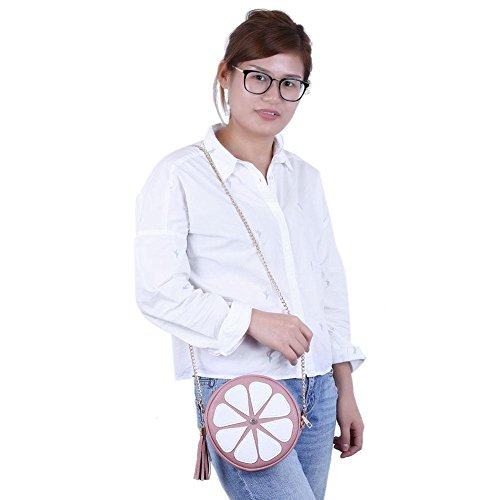Shoulder Chain Fashion Bag Body Mini Bags Domybest Round Women Pink Messenger Handbag Tassel Bag Cross 1dqvn7w