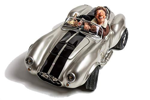- Shelby Cobra 427 SC Silver Figurine Comic Art of Guillermo Forchino (13 Inch)