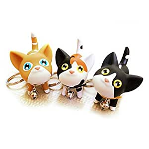 Luy Bell Collar Kitten Keychain(Random Colors)