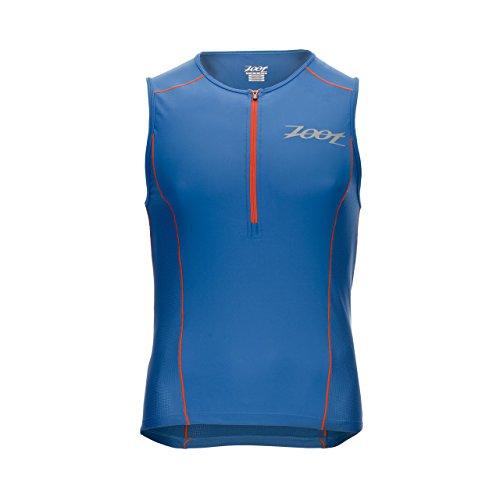 Zoot Men's Active Tri Mesh Tank Top, Vivid Blue/Vivid Blue, Small