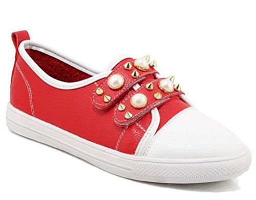 Baja Talla Piel Rojo EU 43 Mujer HiTime Color Zapatilla de Unzwxnq05B