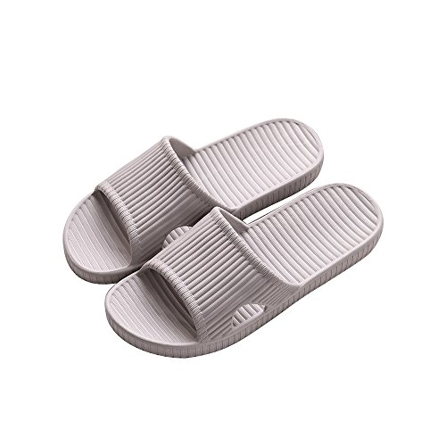 Paankei Womens Or Mens Antimicrobial Shower Shoes/Slides/Sandals/Flip Flops/Slippers for Pool,Beach,Gym,Outdoor,Indoor,Bedroom,Home/House (EU44-45:Men 9-10 & Women 13-14, Gray 1056) ()