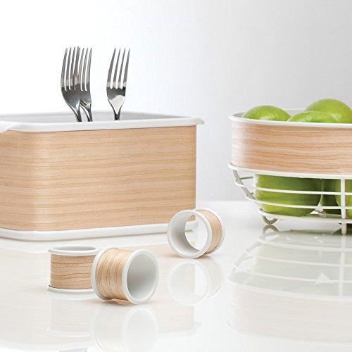 InterDesign RealWood Napkin Rings for Home, Kitchen, Dining Room - Set of 4, White/Light Wood Finish by InterDesign (Image #4)
