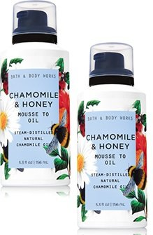 Bath and Body Works 2 Pack Chamomile & Honey Mousse to Oil 5.3 Oz.