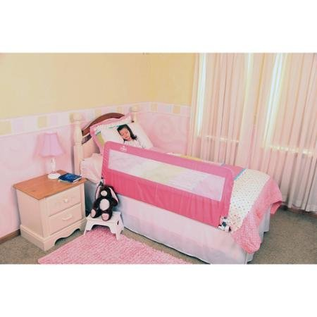 girls kids pink extra long hideaway bed rail twin to queen size one side safety 689719911243 ebay. Black Bedroom Furniture Sets. Home Design Ideas