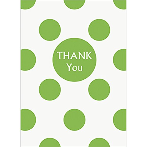 Lime Green Polka Thank Cards
