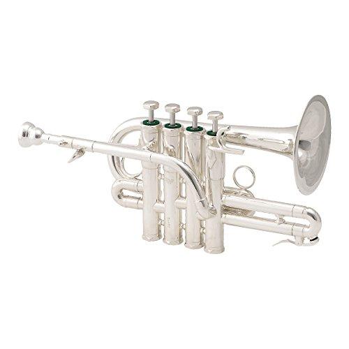 Schilke P7-4 Custom Series Bb/A Piccolo Trumpet 4 Valve Silver by Schilke