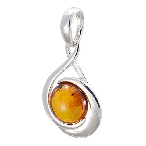 HolidayGiftShops Sterling Silver and Baltic Honey Amber Pendant Raine