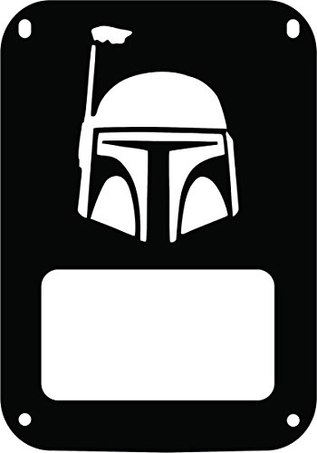 - JeepTails Star Wars Boba Fett Head - Jeep JK Wrangler Tail Lamp Covers - Black - Set of 2