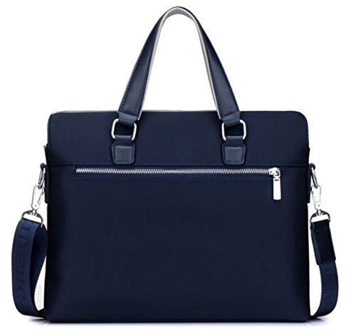Package Business Casual Handbag Shoulder Canvas Oxford Bag Diagonal Section Men's Cross Blue Briefcase 1SPxnZwW