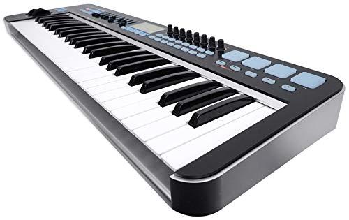 Samson Graphite 49 Key USB MIDI DJ Keyboard Controller+Dual Shelf Studio Stand