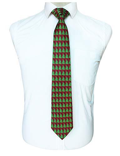 Men Boys Green Christmas tree Elegant Neck Ties Best Neckties for Boyfriend Gift