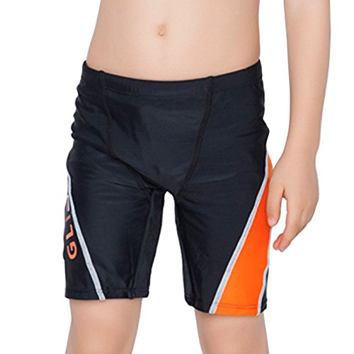 Fitted Swim Boxer - Aivtalk Little Boys Swimming Trunks Polyester Quick Dry Children Sports Swim Boxer Shorts 5-6 Y Black