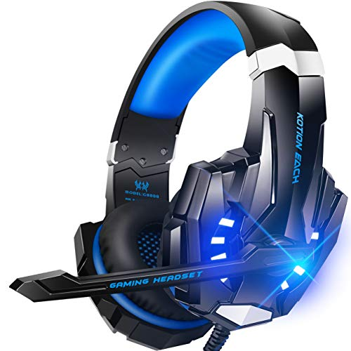 BENGOO G9000 Stereo Gaming Headset for PS4 PC Xbox One PS5 Controller, Noise Cancelling Over Ear Headphones with Mic…