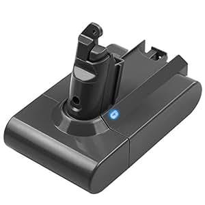 TREE.NB DC62 Replacement Battery for Dyson V6 DC58 DC59 DC61 DC62 DC72 DC74 SV03 SV05 SV06 SV07 SV09 Animal Portable Vacuum Li-ion 3000mAh 21.6V 2.2A
