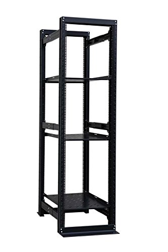 - Raising Electronics Server Rack 4 Post Open Rack Frame Rack Enclosure 19 Inch Adjustable Depth Cold Rolled Steel with 3 Shelve(42U,82Inch Height)