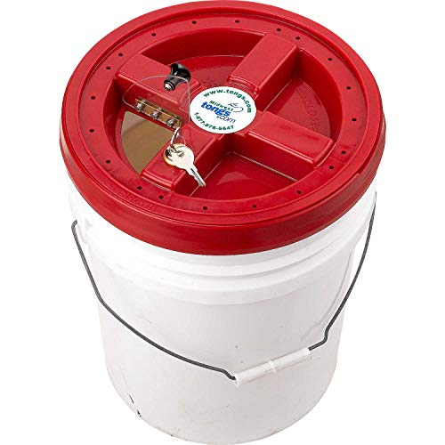 (Locking Animal Containment Cap for 5-Gallon Buckets(Bucket Not Included))