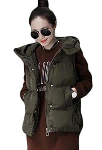予測するヘッドレスコールDeBangNi ダウンベスト 秋冬 厚手 レディース ダウンジャケット 無地 ノースリーブ フード付き トップス ゆったり 着やせ 防寒 チョッキ 韓国風 ファッション 軽量