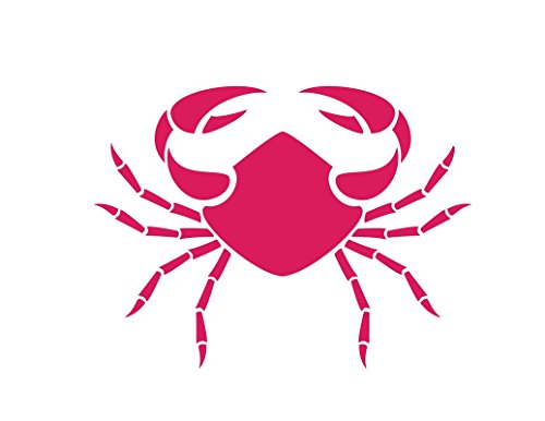 - ND290HP Crab Decal Sticker   6-Inches By 4.4-Inches   Premium Quality Hot Pink Vinyl