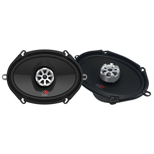 Jensen Studio Speakers (Jensen XS5768 2-Way 5 x 7 inch & 6 x 8 inch High Performance Car Speakers with 280 Watt Peak Power and 1 inch Voice Coils with 25mm Silk Dome Tweeters)