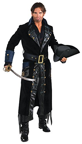 Forum Novelties Mens Pirate Blackbeard Captain Theme Party Fancy Dress Costume, Small (38-40)