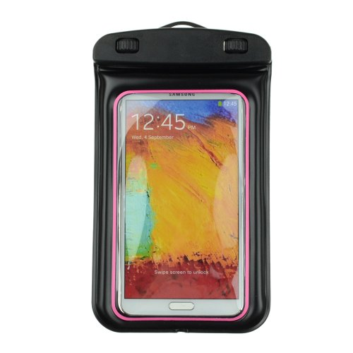 SumacLife Waterproof Pouch Case for Samsung Galaxy Note 3 N9000 / Note 2 N7100 / Samsung S5 i9600 / S4 i9500 / Sony Xperia Z2 (Rose / Black)