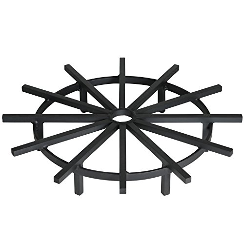 Heritage Products Super Heavy Duty Ship's Wheel Firewood Grate for Fire Pit, 28 Inch Diameter