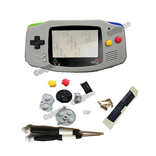 Hot Sale Full Set Grey Cartoon Limited Verison Replacement Plastic Housing Shell Screen Lens For Nintendo Gameboy Advance Gba Game Console  V2