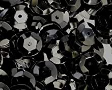 5mm Cup Sequins Black Loose sequinsMade in USA