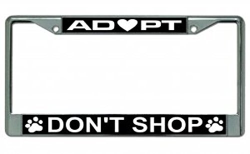 Adopt Don't Shop Photo License Plate Frame Free Screw Caps with this - Frame Online Shop