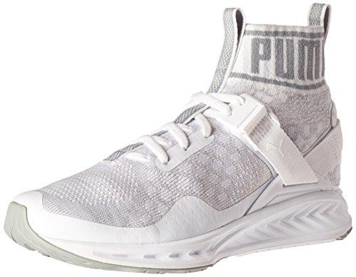 PUMA Damen Ignite Evoknit Wn Cross-Trainer Schuh Puma White-Steinbruch-dampfgrau