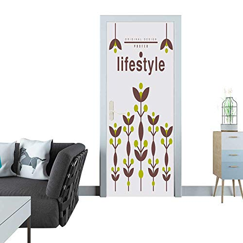 er Lifestyle Poster Original Design Ecological Template for Card Banner Flyer Invitation brochure Vector Illustration Door Sticker Mural 27x59(69x150 cm) ()
