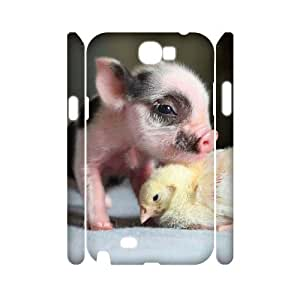 S-ADFG Cute Pig Customized Hard 3D Case For Samsung Galaxy Note 2 N7100