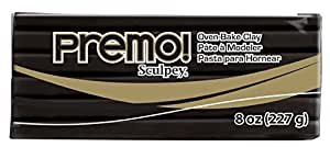 Premo Clay 8 Ounces-Black