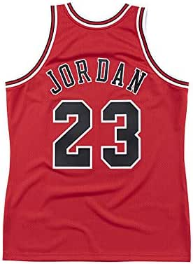 WELETION Youth #23 Jordan Jerseys de Baloncesto para niños Maillot Retro Kid's Rojo (S-XL)