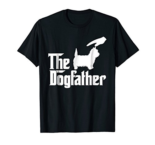 (West Highland White Terrier The Dogfather Funny Dog T-Shirt)