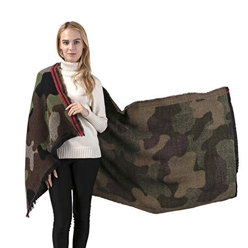 Pashminas Camouflage Blanket Scarf ultra-soft plush style Ponchos Pashmina Shawls and Wraps