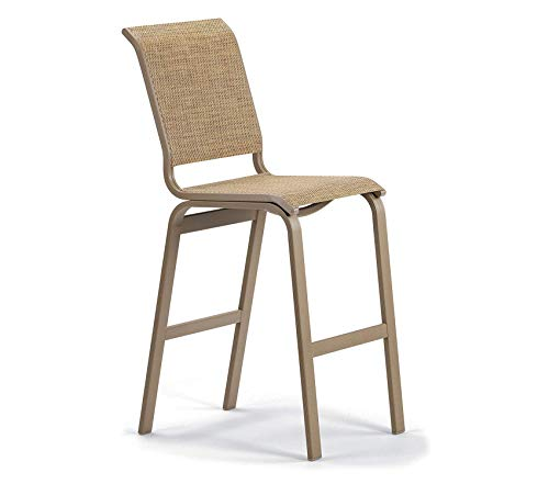 - Wood & Style Patio Outdoor Garden Premium Sling Collection Bar Height Armless Chair, Alloy, Textured Graphite Finish