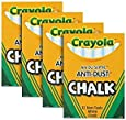 Crayola(R) Anti-Dust Chalk, (White) Box Of 12 Sticks