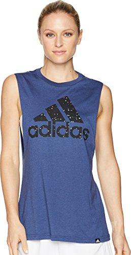 - adidas Women's Athletics Graphic Muscle Tank Top, Noble Indigo/Multicolor/Stars, X-Small