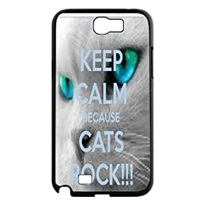 Because Cats Animal Cat Cartoon Retro Vintage Funny Patterned Hard Back Case Cover For Samsung Galaxy Note 2 Case RVNLI_W470509